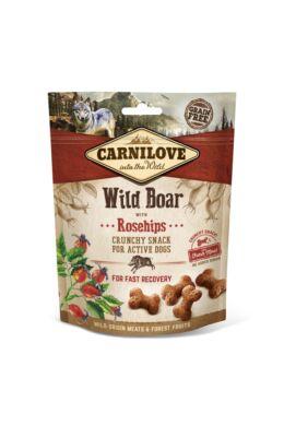 Carnilove Dog Crunchy Snack Wild Boar & Rosehips- Vaddisznó Hússal és Csipkebogyóval 200g