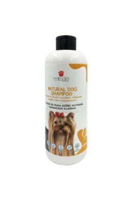 Waff kifésülést segítő natúr kutyasampon hosszú és puha szőrre – narancs