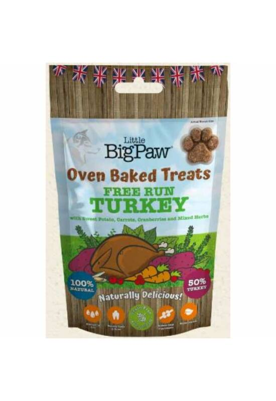 Little BigPaw Turkey,Potato, Carrots, Cranberries & Herbs Jutalomfalat 130g