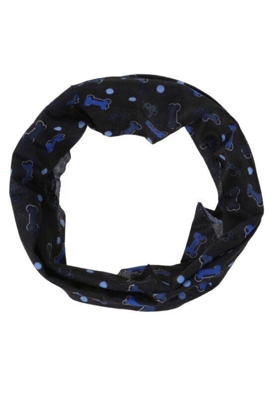 Regatta kutya csősál sötétkék- kék csontos