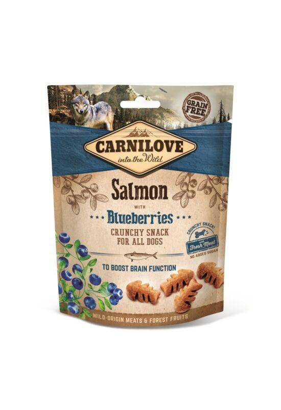 Carnilove Dog Crunchy Snack Salmon & Blueberries- Lazac Hússalés Áfonyával 200g